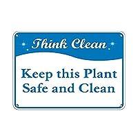 この植物を安全で清潔に保つ 金属板ブリキ看板警告サイン注意サイン表示パネル情報サイン金属安全サイン