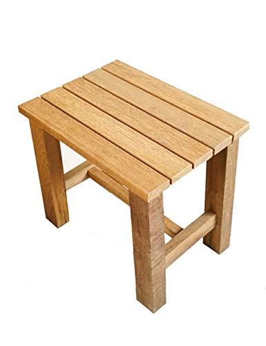 Bad stoel houten bad douche bank, met anti-slip tips voor veiligheid en stabiliteit voor ouderen/gehandicapte anti-slip douche stoel stoel stoel bank (Maat: L(16.5X11X15.8 inch))