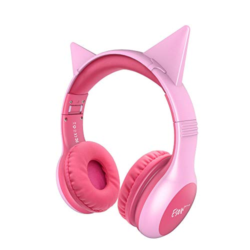 Liuchfe Fashionable Bunny Ears Cartoon Headset Wired Headphones Stereo Children Foldable Earphones Cordless Earphones, Fitness Earphone (Color : Blue)