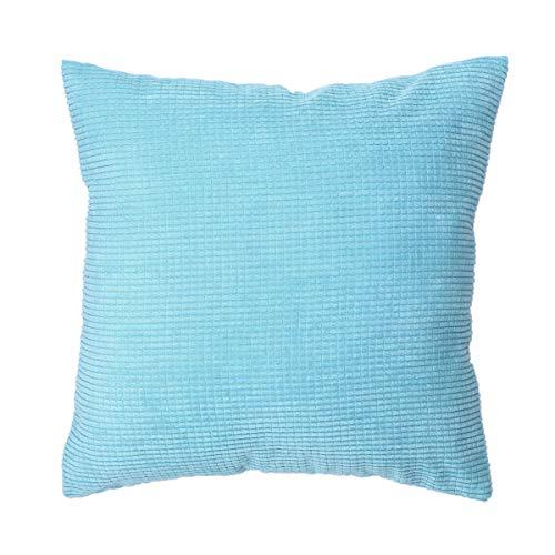 IMIKEYA Soft Throw Pillow Case Solid Color Cushion Cover Pillowcase Home Sofa Decoration 45x45cm (Sky Blue)