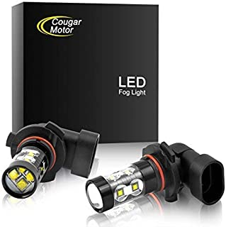 Cougar Motor 9005 HB3 CREE LED Fog Light/DRL Bulbs - 30W 5000K Bright White (Pack of two bulbs)