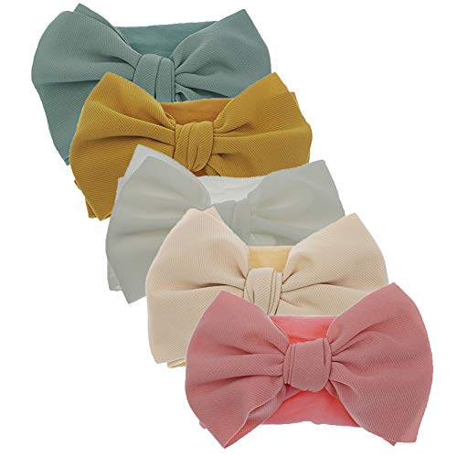 Newest Baby Bow Headbands Baby Turban Knotted Headband Nylon Elastic Headwraps for Baby Girl Hair Accessories (KK69-03)