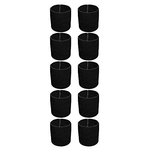 10x Cawila Trauerflor, Armbinde Trauer, einfarbig schwarz