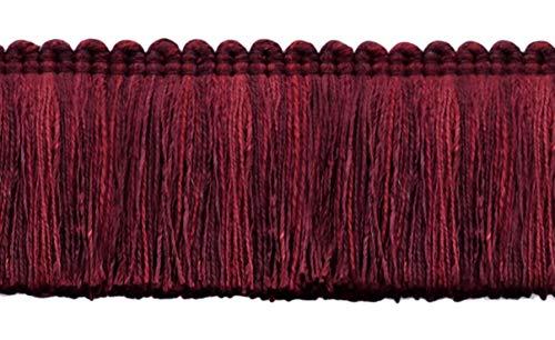 16.5 Meter Value Pack of Veranda Collection 51mm Brush Fringe Trim|Pagoda Red, Black Cherry, Ruby|Style#: 0200VB|Color: Dark Cranberry - VNT28 (54 Ft / 18 Yards)