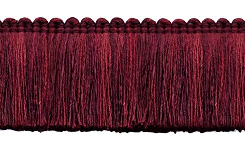 DÉCOPRO 5 Yard Value Pack of Veranda Collection 2 inch Brush Fringe Trim|Pagoda Red, Black Cherry, Ruby |Style#: 0200VB |Color: Dark