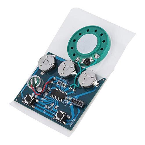 Zerone Módulo de grabación de voz 30 segundos, chip con 3 pilas de botón, función de grabación de sonido, módulo de grabación de sonido para bricolaje regalo tarjeta de audio (botones)