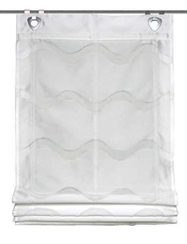 Home Fashion 091/535–1007 130 x 0060 wollweiss Store Bateau décoratif en Tissu scherli, Plastique, Blanc, 130 x 60 cm