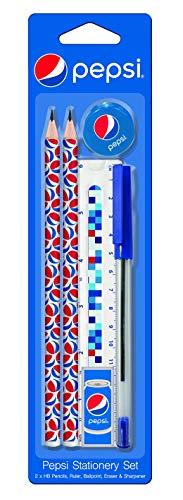 PEPSI Schreib-Set Set 6-tlg. - 2x Bleistift/Lineal/Anspitzer/Radierer/Kugelschreiber