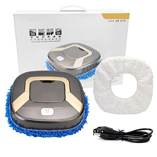 Karrychen Aspiradora silenciosa de Carga USB de Limpieza automática Inteligente Barrido-Gris Plateado