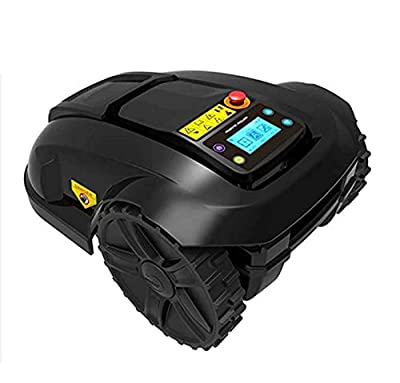 HEN'GMF Automatic Robotic Lawn Mower, Electric Intelligent Lawn Mower, Waterproof Automatic Charging Robot Lawn Mower, Smart WiFi Rain Protection Obstacle Avoidance Timing Theft Lawn Mower.