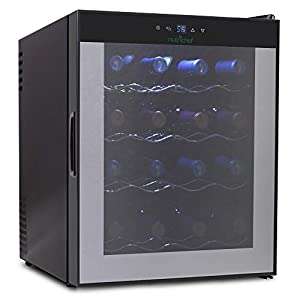NutriChef 16 Bottle Thermoelectric Red And White Wine Cooler/Chiller, Counter...