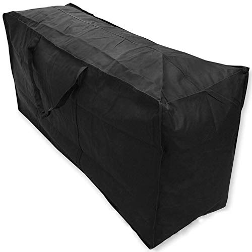 YYQIANG Outdoor Garden Furniture Cover, Patio Set Cover, Waterproof Breathable Oxford Fabric,Rectangular - Black (Size : 122 * 39 * 55CM)