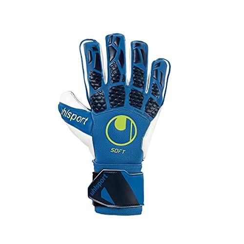 uhlsport Hyperact Soft Pro, Guante de Portero, Night Blue-White-Fluor Yellow, Talla 7