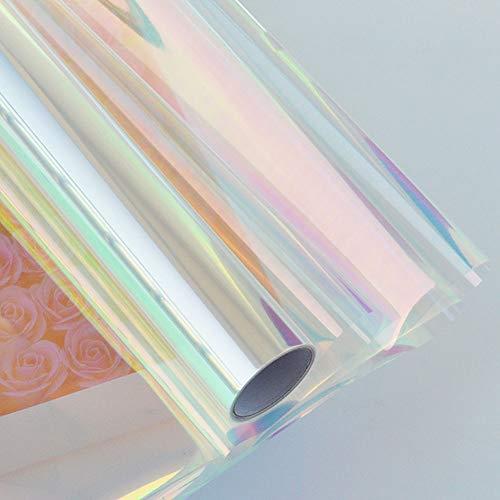 HOHOFILM Rollo de papel de regalo iridiscente, 0,57 m x 9 m,...
