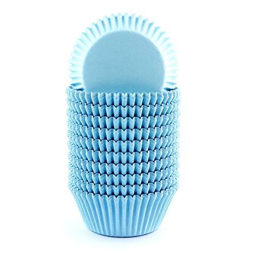 xlloest Hellblau Cupcake-Papierförmchen Muffin Förmchen Papier 200 Stück, Muffin Förmchen Papier Durchmesser 5 cm - Keine Gerüche, kein Gift, Keine auslaufenden Farbstoffe