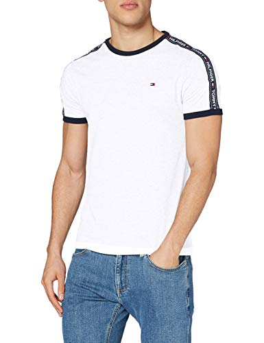 Tommy Hilfiger RN tee SS Camiseta, Blanco (White 100), Large para Hombre