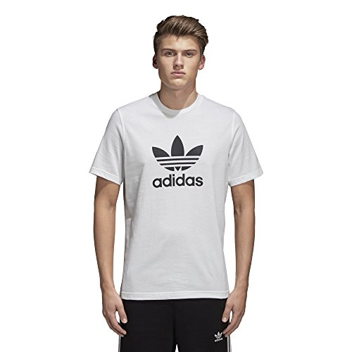 adidas Originals mens Trefoil Tee White Large