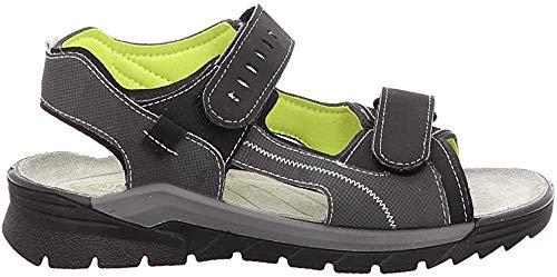 RICOSTA Jungen Trekking Sandalen TAJO, Weite: Weit (WMS),waschbar, detailreich leger Outdoor-Sandale Sport-Sandale Kids,Oliv/schwarz,35 EU / 2.5 UK