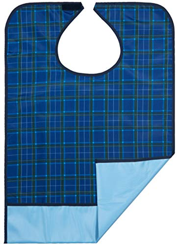 Bibs for Adults Senior Citizens - Adult Bibs for Eating Clothing Protector blue color