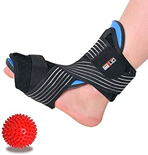 Plantar Fasciitis Night Splint for Women & Men Sleep Support, Comfortable Adjustable Foot Drop Orthotic Brace for Relief Plantar Fasciitis, Heel, Arch Foot Pain, fit Right/Left Foot