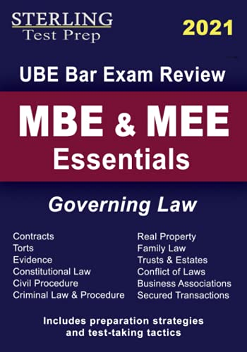 MBE & MEE Essentials Governing Law: UBE Bar Exam Review by Sterling Test Prep