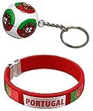 bijouparis Bracelet Supporter Coupe du Monde 2018 Drapeau Portugal Ronaldo cr7 et Porte clé