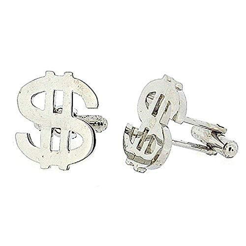 Jakob Strauss FJ1021 - Boutons De Manchette Argentés Symbole Dollar