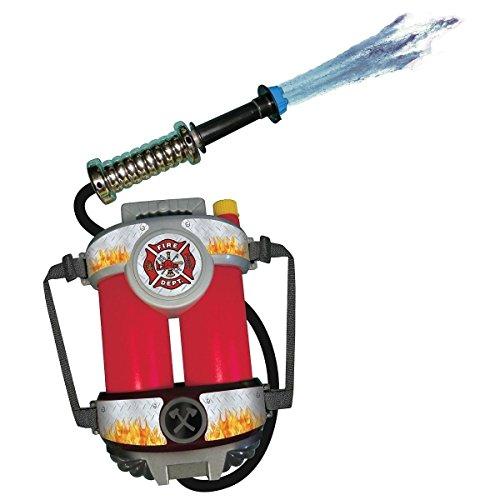 GSG Fire Hose Squirt Gun & Backpack Kids Fireman Toy Firefighter Costume Acsry