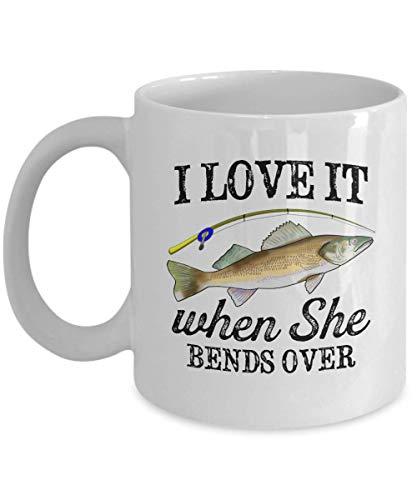 Funny Walleye Fishing Mug Freshwater Fish Yellow Pike Cup Angler Fly Fisherman