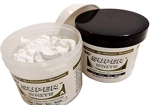 (0.5kg, Super White) - Apoxie Sculpt 0.5kg. Super White, 2 part modelling compound (A & B)