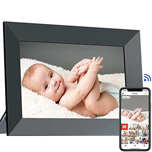 WiFi Digital Picture Frame 8 Inch Smart Digital Photo Frame with IPS Touch Screen HD Display, 16GB Storage Easy Setup to Share Photos Videos Anywhere by Free APP, Auto-Rotate-Perfect Brithday Gift
