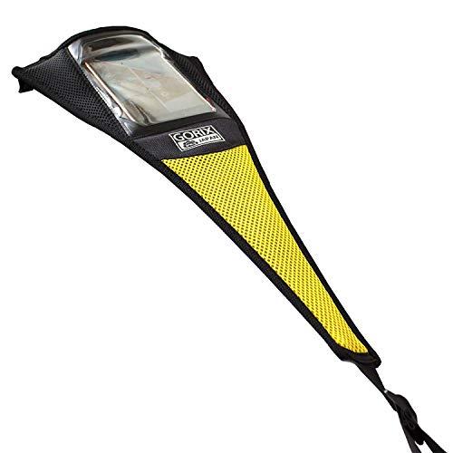 GORIX ゴリックス ローラー台用 汗防止カバー スマホタッチ機能 スウェットカバー 汗落ち 自転車 イエロー (GW-C1touch)