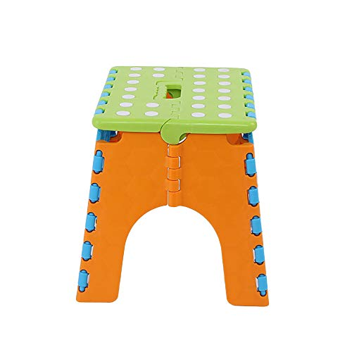 Omenluck 1 silla plegable pequeña para interiores y exteriores, de plástico, sillones apilables para jardín o patio