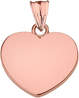 c8f3e715c Fine 10k Rose Gold Love Plain Heart Charm Pendant