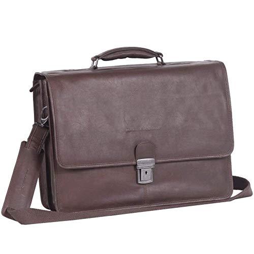 Chesterfield Leren Laptoptas 15 inch Shay Bruin