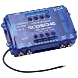 SCOSCHE SLC4 Car Stereo Speaker 4-Channel Audio Lineout Converter/OEM Amplifier Adapter with Adjustable Level Controls