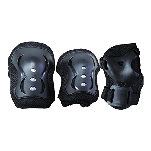 Garlando - Enfant Junior Nextreme Kit de Protection Adulte - Entre 25 kg et 50 kg, Grg-043, Noir, Medium