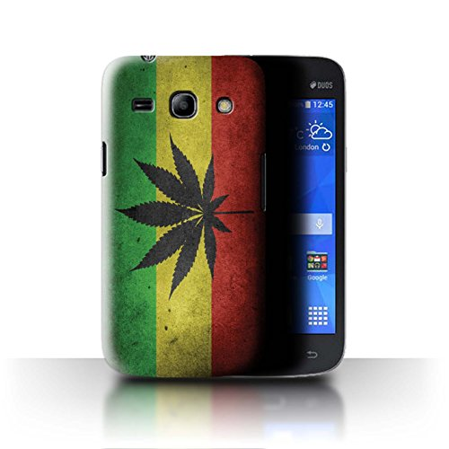 Stuff4® hoes/case voor Samsung Galaxy Star 2 Plus/G350E/bloem vlag patroon/Rasta Reggae kunst collectie