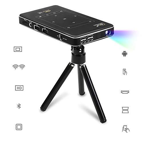 GJZhuan Mini proyector DLP Android 100ANSI lúmenes 854 * 480 (WVGA) de proyección 30-120 Pulgadas 1080p Full HD Videoproyector Novaprojector el Original Proyector de Bolsillo portátil (Size : AU)