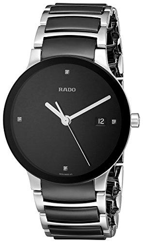 Rado R30934712 - Reloj para Mujeres, Correa de cerámica Color Negro