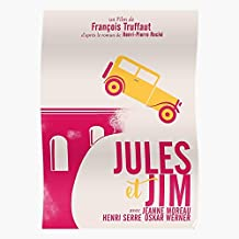 Jules François Et Cinema Truffaut Alternative Jim Film E And Playbill El mejor y más nuevo póster para la sala de decoración del hogar de arte de pared