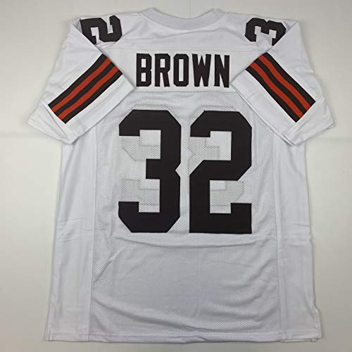 Unsigned Jim Brown Cleveland White Custom Stitched Football Jersey Size Men's XL New No Brands/Logos