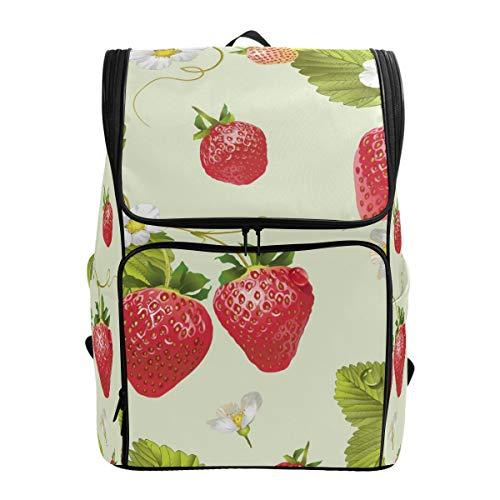 Jeansame Rugzak School Tas Laptop Reizen Tassen Leuke Aardbei Thee Fruit Bijen Bloemen voor Kid Jongen Meisje Vrouwen Mannen