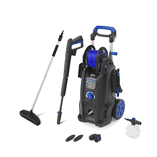 AR Blue Clean e-4 TWIN FLOW D Idropulitrice ad Alta Pressione con Dualtech System e Power Brush (2500 W, 150 bar, 810 l/h)