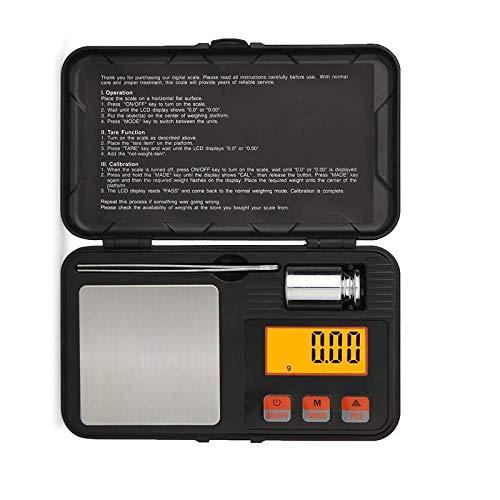 200 * 0.01g de alta precisión digital portátil de oro de plata esterlina escala de la joyería de la balanza de la caja de balanzas de peso pinzas herramientas