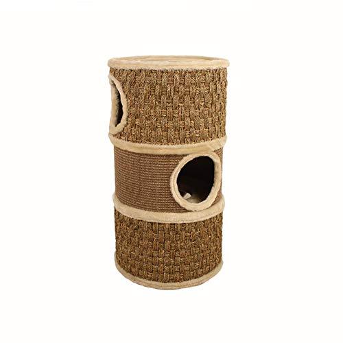 Soul hill Kat klimframe, meerlagige sisal buis kat grijper, klauw molen, slijtvaste kat grip post, geschikt voor katten spelen binnen, 37,5 * 37,5 * 70cm