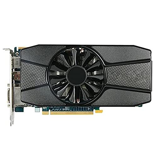 SYFANG Tarjetas gráficas Fit for Sapphire 7770 1GB GPU AMD HD7770 1G GDDR5 Tarjetas de Video PC Juegos de computadora HDMI PCI-E X16 Tarjetas gráficas
