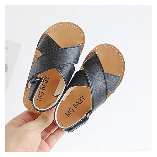 WanXingY Sandalias de niñas 2~10 años de Edad niños Zapatos Deportivos de solación Suave Zapatos de Entrenamiento Zapatos para niños Sandalias de Playa de Verano (Color : Negro, Size : 10)