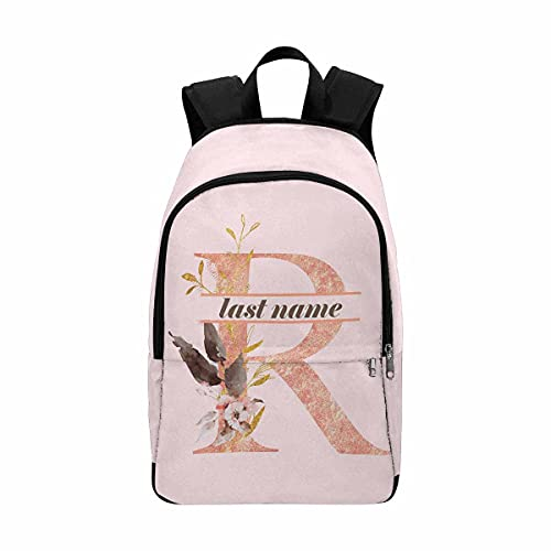 Custom Backpack with Name Personalized School Bag Design Flowers Travel Daypack for Girl Women
