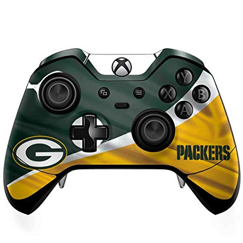 Skinit Decal Gaming Skin Compatible with Xbox One Elite Controller - Officially Licensed NFL Green Bay Packers Design